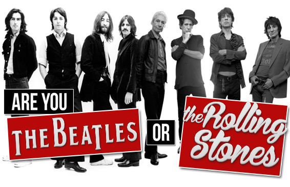 the beatles vs the rolling stones essay During a live taping of wnyc's soundcheck on february 27th, taking place at the library for the performing arts at lincoln center, an important debate will be held: beatles vs rolling stones and.